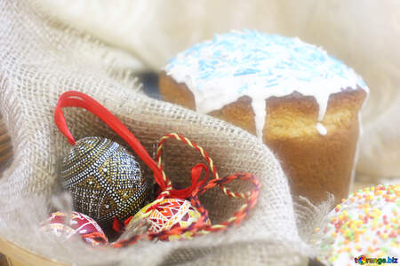 Easter cupcake and ornaments №51240
