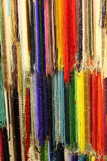 multi colors  necklaces fabric №52697