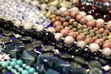 Perline pietre nec gioiello collane petto in legno Marballs Perle matrimonio №52955