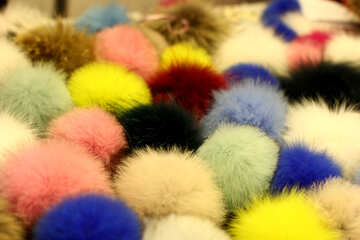 assorted poms fluffy things №52974