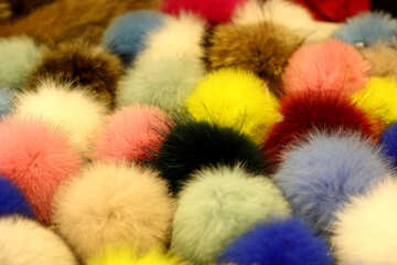 cotton ball pom poms №52972