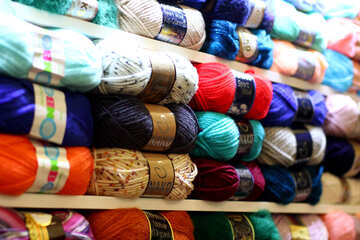 Coloured balls of wool Yarn strings №52649