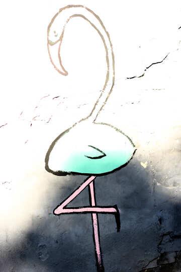 Swan Flamingo Bird 24 digs sign №52020