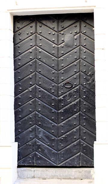 Door black retro