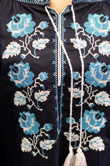flowers flowery top black and blue flowered plants jacket №52690