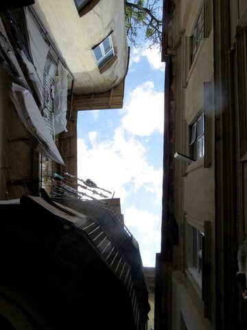 Edifici di case con il cielo №52243
