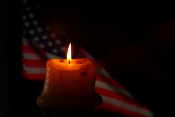 American flag and candle №52485