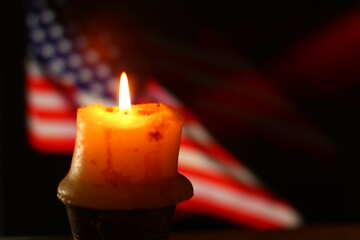 American flag and Candle №52488