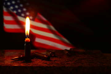 american flag candle №52530