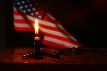 candle american flag and table №52532