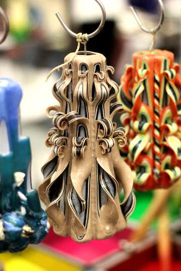Art candles  ornaments №52931