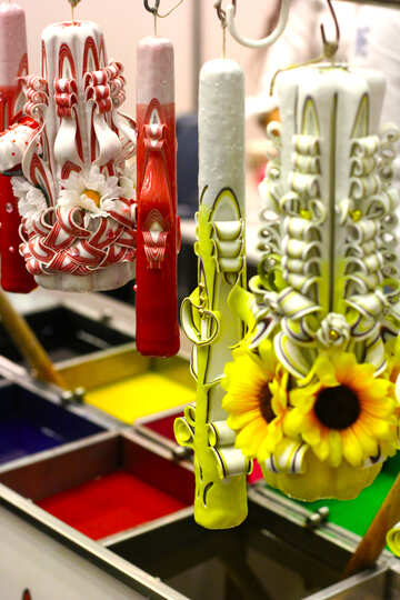 Art candle  weird flowers SUNFLOWER №52911