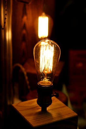 old fashioned lightbulb candle lamp light bulb №52830