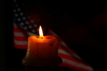 american flag and a candel №52484
