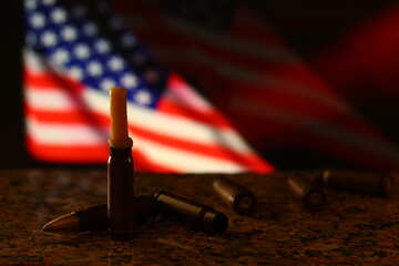 bullets and us flag №52500