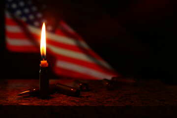 a candle and a us flag №52528