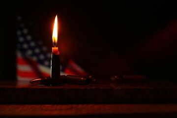 Candle and USA flag №52522