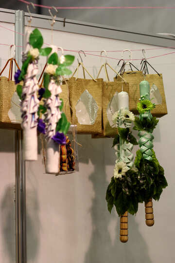 Bags hanging on wire Flowerspots №52933