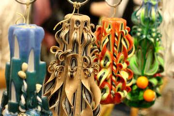 Unique Ornaments candles Wax №52919