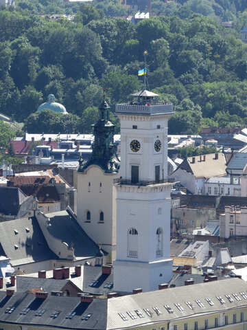 A tower in a city castle church town №52086