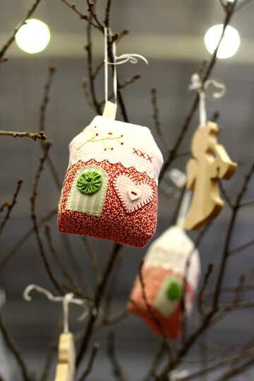Рождественский декор сумка на елке №52952