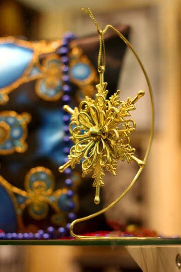 Рождественская снежинка звезда орнамент орнамент №52791