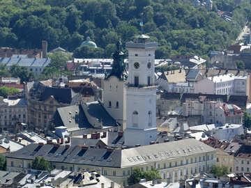 Church old city  buildings №52089
