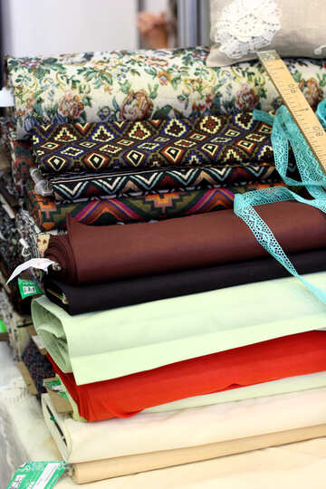 folded material fabric cotton rugs cloth