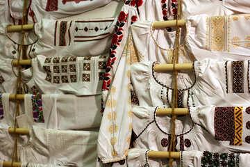 Ethnic shirts clothes hanging Dress №52846