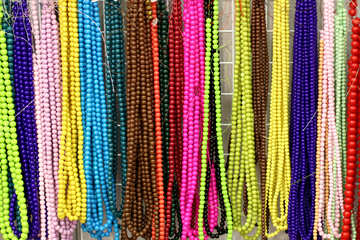 Necklace color beads №52703