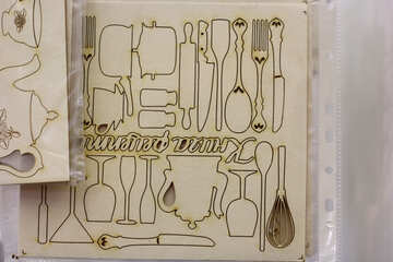 siloetate kitchen stuff cooking supplies Cut out cutlery №52669