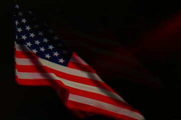 USA dunkle Flagge Hintergrund №52481