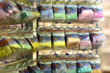 Colourful powder bags №52640