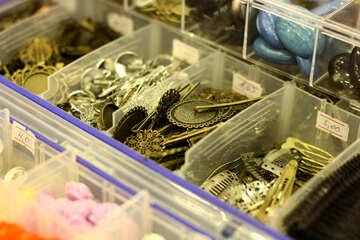 Scatole per ingredienti bottoni in metallo fermagli per gioielli accessori per bottoni dorsali bigiotteria d`oro №52701