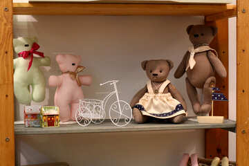 tedy bears doll teddybears bicycle №52876