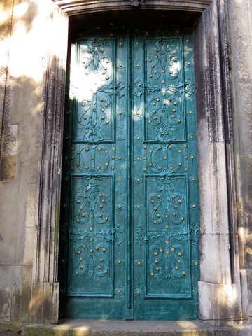 closed metal door №52192