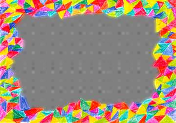 Frame with colors hand drawn and space for text on white background  №52349