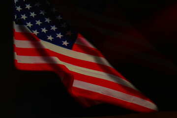 American Flag dark background
