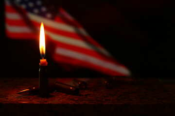 Flame and flag USA №52526