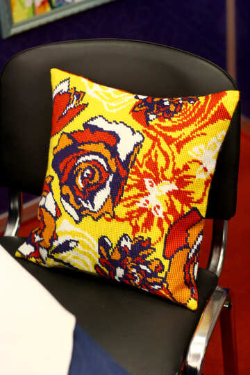 yellow floral pillow №52739