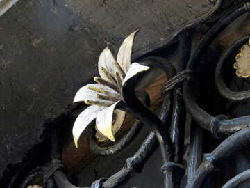 Flower from metal