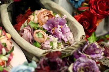 Basket of flowers №52811