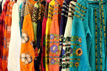 Closet full of shirts blouses clothes №52691