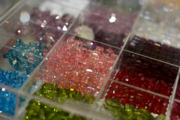 beads glass boxes perles №52553