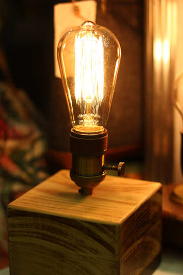 Incandescent ligth bulb lamp Glowing №52833