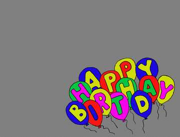 Happy birthday. Hand Drawing Pen Lettering cartoon style design. Air Balloons with inscription. Illustrate a white background isolated. Concept for congratulations card.  №52354