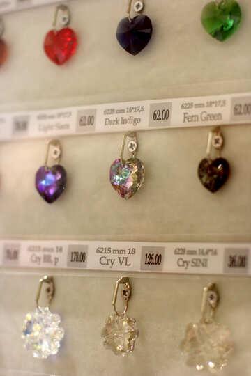 Svarosky jewelry necklace hearts №52540
