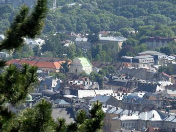 L`orizzonte della città alloggia il paesaggio №52093