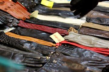 Кожаные перчатки №52597