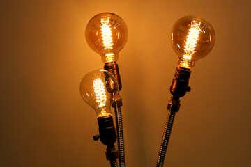 3 light bulbs lamps №52881